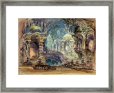 Robert Caney, British 1847-1911, Interior Scene With Troops Framed Print