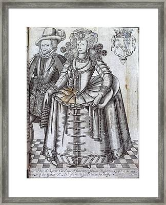 Robert Car And Ladie Francis Framed Print by British Library