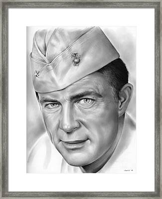 Robert Conrad As Pappy Boyington Framed Print