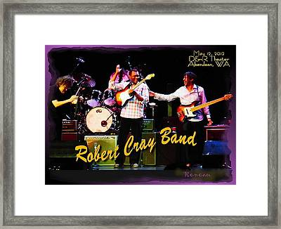 Robert Cray Band Framed Print by Sadie Reneau