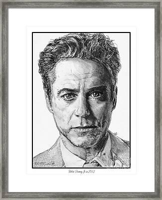 Robert Downey Jr In 2012 Framed Print by J McCombie