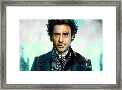 Robert Downey Jr  Framed Print