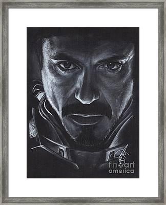 Robert Downey Jr.  Framed Print by Rosalinda Markle