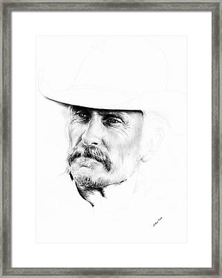 Robert Duvall  1st Draft Framed Print