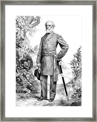 Robert E. Lee, Confederate Army Framed Print