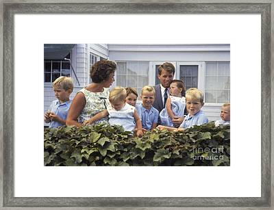 Robert F. Kennedy And Family 1959 Framed Print by The Harrington Collection