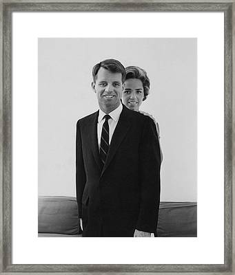 Robert F Kennedy And Wife Ethel Framed Print