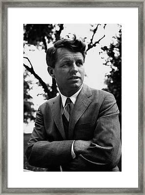Robert F. Kennedy Wearing A Suit Framed Print by Pat Mccallum