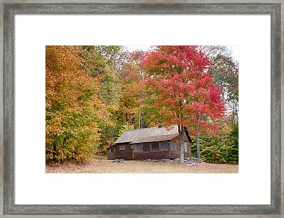 Robert Frost Cabin In Autumn Framed Print by Jeff Folger