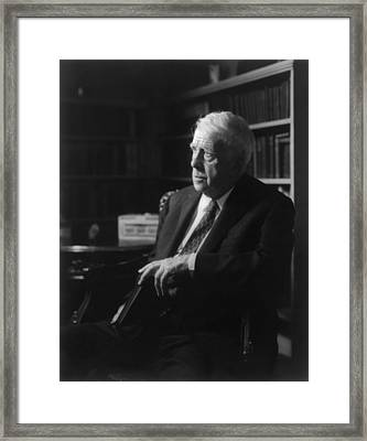 Robert Frost, Received Four Pulitzer Framed Print by Everett