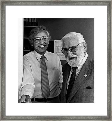 Robert Gallo And Albert Sabin Framed Print by National Cancer Institute
