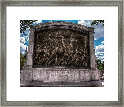Robert Gould Shaw Memorial On Boston Common Framed Print by Tom Gort