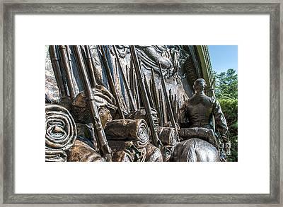 Robert Gould Shaw Memorial Framed Print by Scott Thorp
