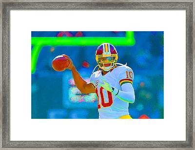 Robert Griffin IIi   Rg 3 Framed Print by William Jobes