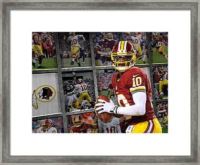 Robert Griffin Rg3 Washington Redskins Framed Print by Joe Hamilton