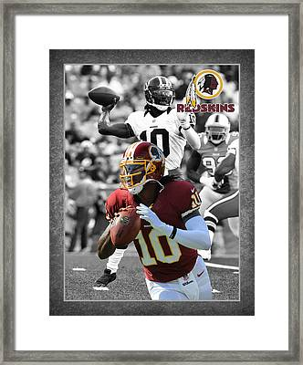 Robert Griffin Rgiii Redskins Framed Print by Joe Hamilton