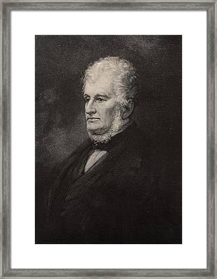 Robert Hare (1781-1858) American Chemist Framed Print