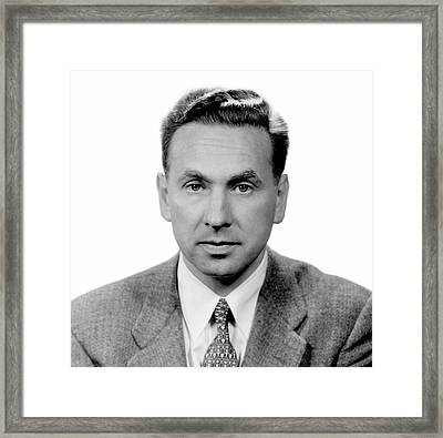 Robert Hofstadter Framed Print by Emilio Segre Visual Archives/american Institute Of Physics