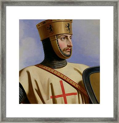 Robert II Le Hierosolymitain Count Of Flanders Framed Print by Henri Decaisne