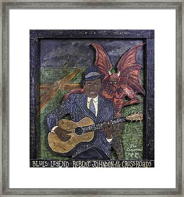 Robert Johnson At The Crossroads Framed Print by Eric Cunningham