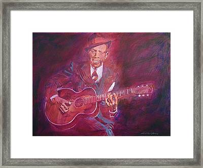 Robert Johnson Framed Print by David Lloyd Glover