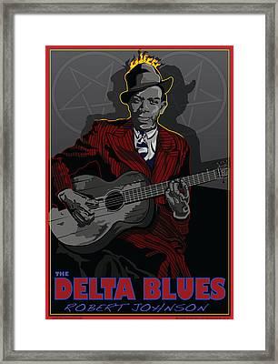 Robert Johnson Delta Blues Framed Print by Larry Butterworth