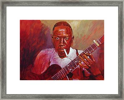 Robert Johnson Photo Booth Portrait Framed Print