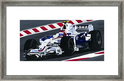 Robert Kubica Wins F1 Canadian Grand Prix 2008  Framed Print