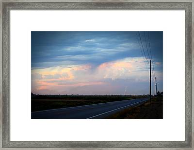 Robert Melvin - Fine Art Photography - County Road 98 Framed Print