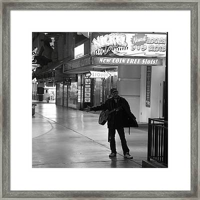 Robert Melvin - Fine Art Photography - Sin City - Where You From Framed Print