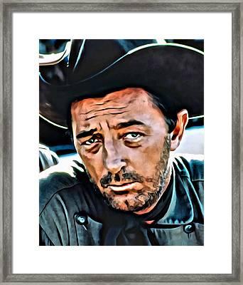 Robert Mitchum Framed Print by Florian Rodarte