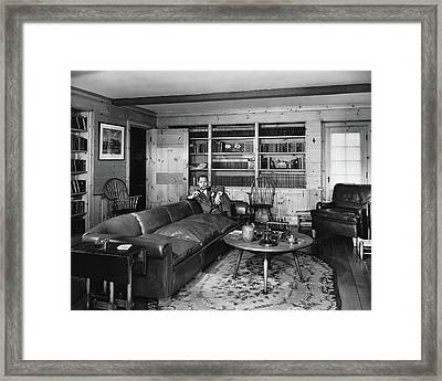 Robert Montgomery In His Living Room Framed Print