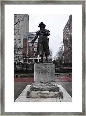 Robert Morris Financier Of The American Revolution Framed Print by Bill Cannon