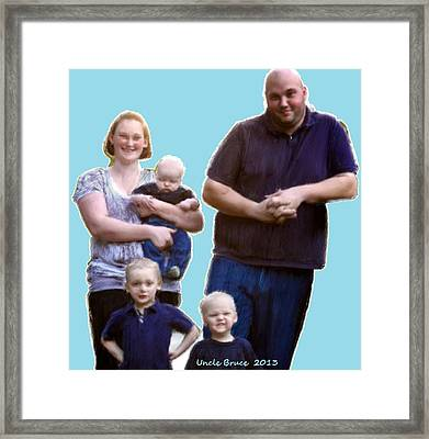 Framed Print featuring the painting Robert Nutting Family by Bruce Nutting