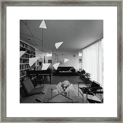 Robert Osborn's Living Room Framed Print by Hans Namuth