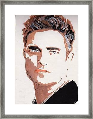 Robert Pattinson 144 Framed Print