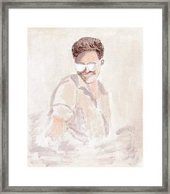 Robert Pattinson 182 Framed Print by Audrey Pollitt