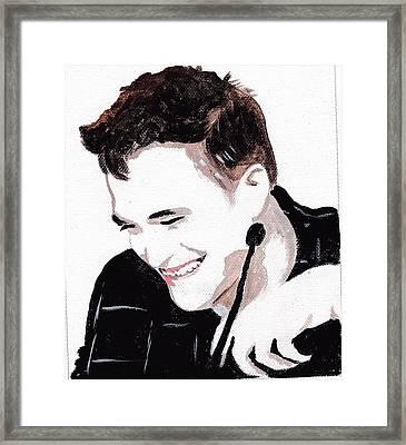 Robert Pattinson 184 Framed Print by Audrey Pollitt