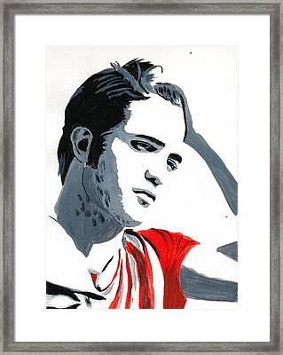 Robert Pattinson 77 Framed Print