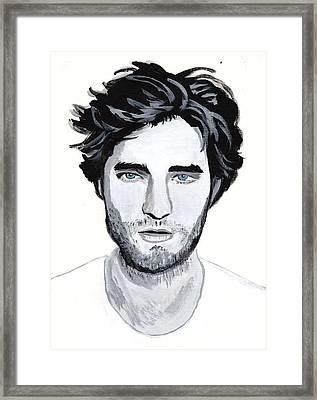 Robert Pattinson 88 Framed Print by Audrey Pollitt