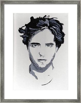 Robert Pattinson 89 Framed Print by Audrey Pollitt