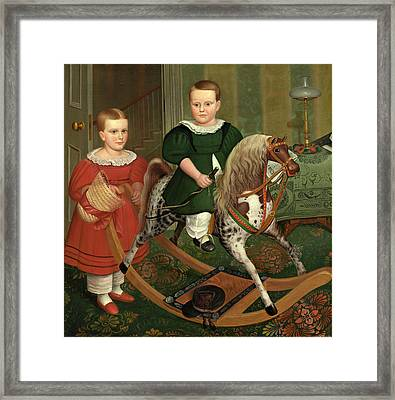 Robert Peckham American, 1785 - 1877, The Hobby Horse Framed Print by Quint Lox
