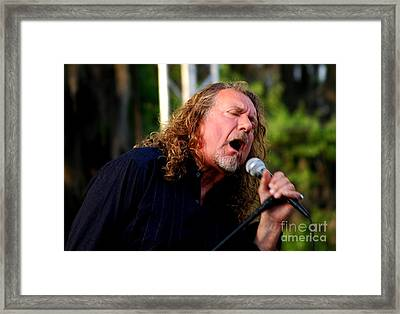 Robert Plant 2 Framed Print by Angela Murray