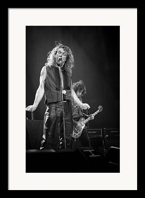 Robert Plant Performance Art Framed Prints