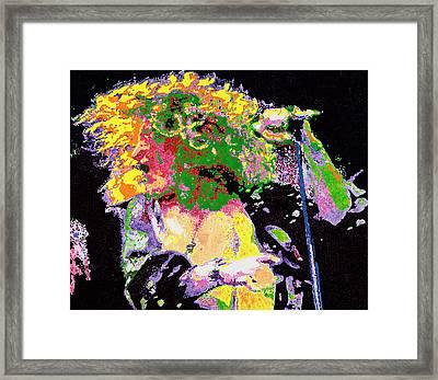 Robert Plant Framed Print by Barry Novis