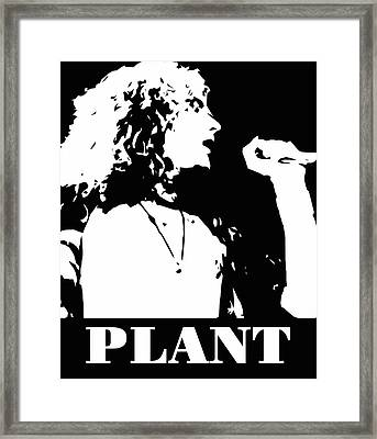 Robert Plant Black And White Pop Art Framed Print by David G Paul