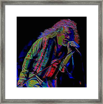 Robert Plant Framed Print by  Fli Art