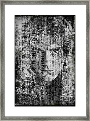 Robert Plant - Led Zeppelin Framed Print by Absinthe Art By Michelle LeAnn Scott