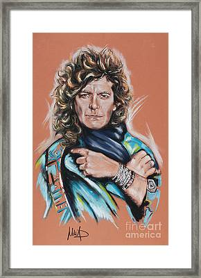 Robert Plant Framed Print by Melanie D