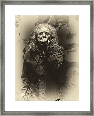 Robert Plant Framed Print by Michael  Wolf
